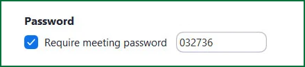 Zoom: Require Meeting Password